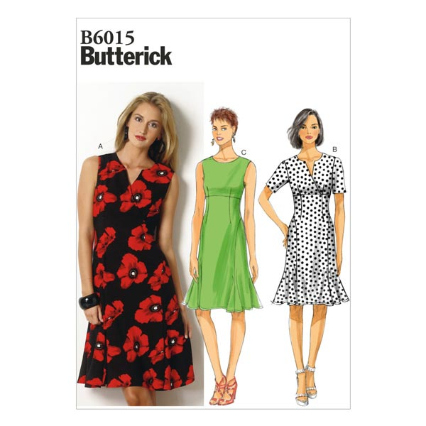 Kleid, Butterick 6015 | 34 - 42 - Schnittmuster Kleid- stoffe.de