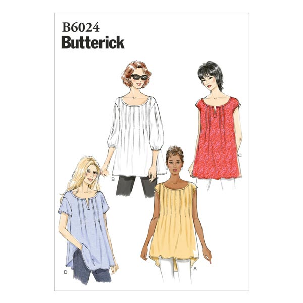 Top, Butterick 6024 | 32 - 40