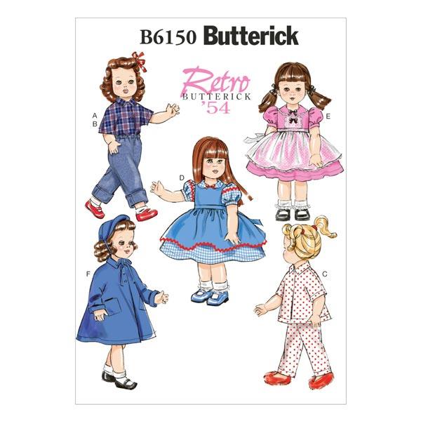 Vintage - Ropa para muñecas 45 cm 1954, Butterick - Patrones de ...