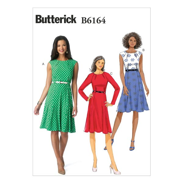 Kleid, Butterick 6164 | 32 - 40
