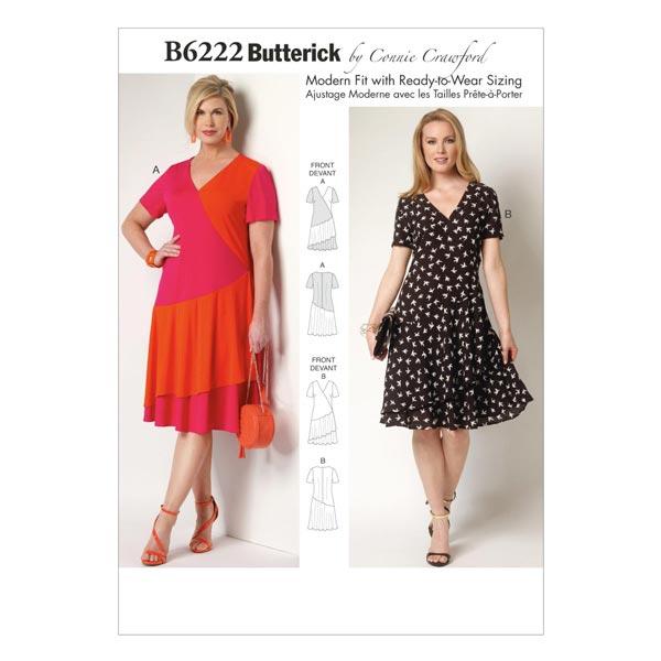 Plus Size - Kleid, Butterick 6222 | 2XL - 6XL - Schnittmuster Kleid ...