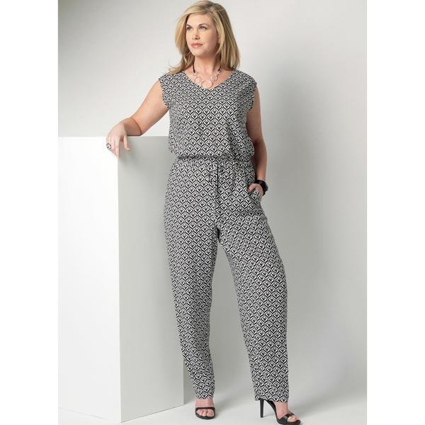 combinaison grande taille butterick 6224 52 patrons de couture tops chemisiers. Black Bedroom Furniture Sets. Home Design Ideas