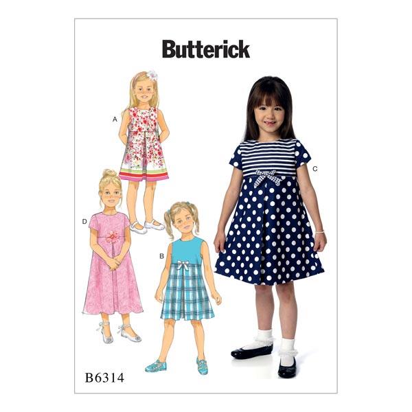 Kinderkleid, Butterick 6314 | 122 - 134