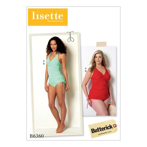Tankini, Butterick 6360 | 34 - 42 - Schnittmuster Bademode- stoffe.de
