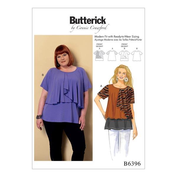 Plus Size - Top, Butterick 6396 | XXL - 6XL - Schnittmuster Tops ...