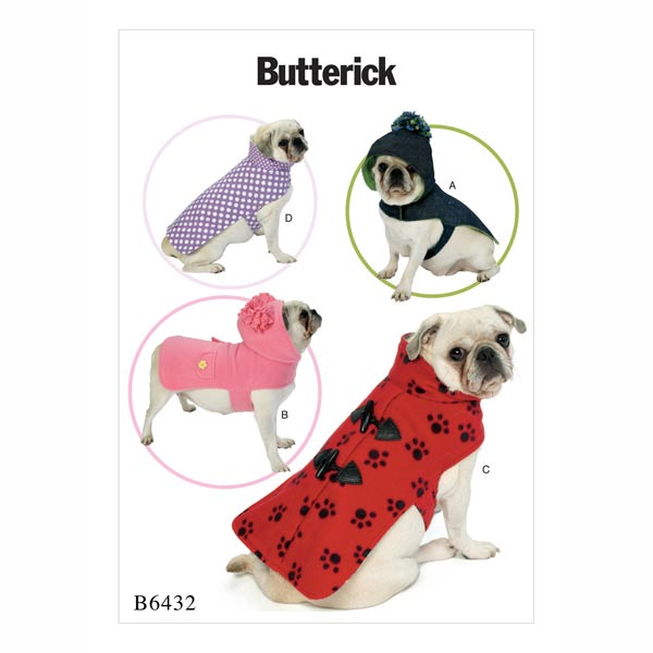 Abrigo para perro, Butterick 6432 - Patrones de corte Ropa para ...