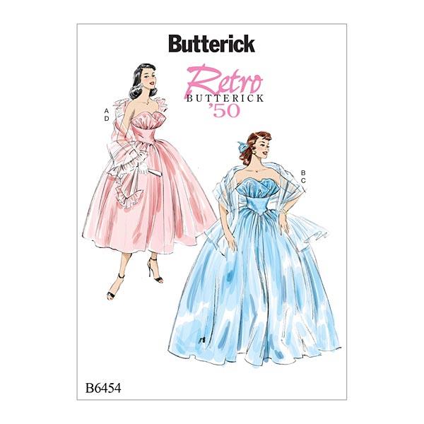 Abendkleid, Butterick 6454 | 32 - 40 - Schnittmuster Kleid- stoffe.de