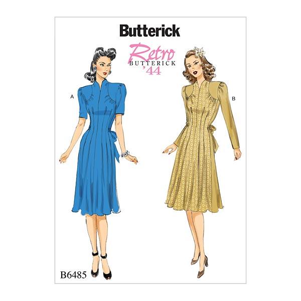 Vintage - Kleid 1944, Butterick 6485 | 40 - 48 - Schnittmuster Kleid ...