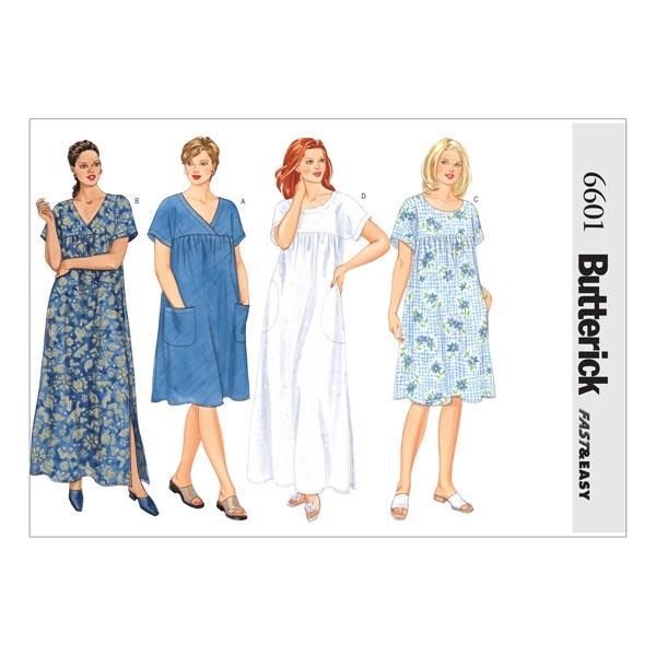 Kleid, Butterick 6601 | 48 - 52 - Schnittmuster Kleid- stoffe.de
