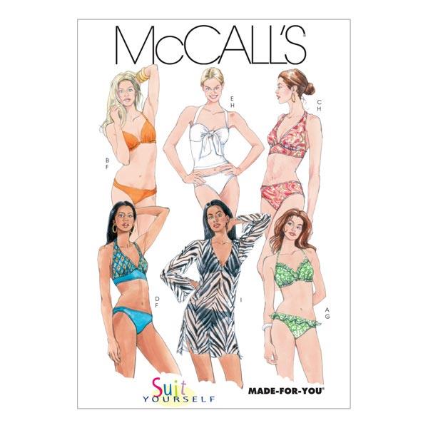 Bikini, McCalls 5400   30-38 - Schnittmuster Bademode- stoffe.de
