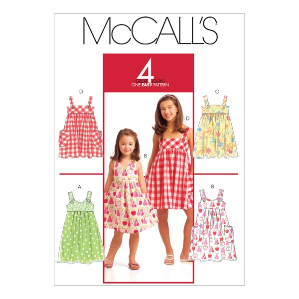 Kleid, McCalls 5613 | 128-152 - Schnittmuster Kleinkind- stoffe.de