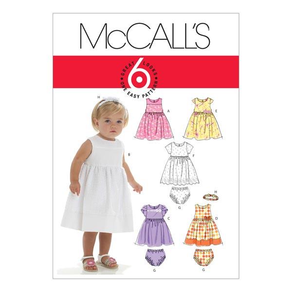 Schnittmuster für Babykleider von McCall'S