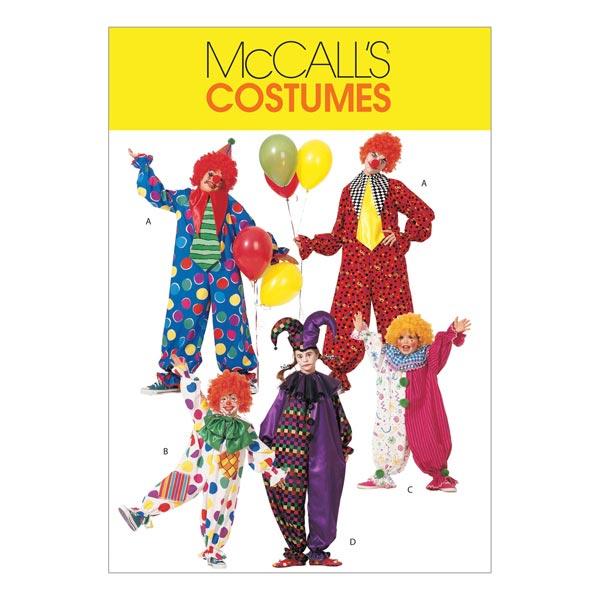 Kostüme Clown für Kinder, McCalls 6142 | 116 - 122 - Schnittmuster ...