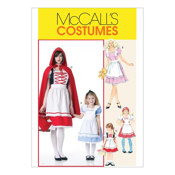 Märchen-Kostüme für Kinder, McCalls 6187 | 104-134 - Schnittmuster ...