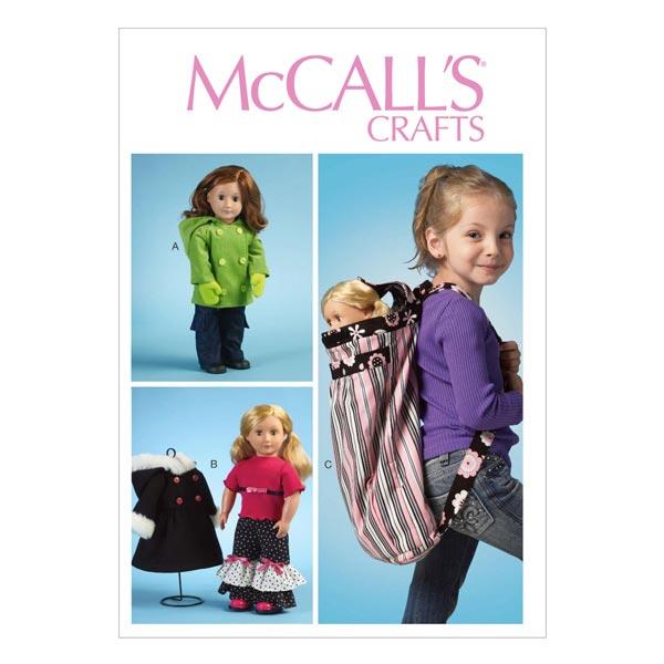 Schnittmuster für Puppenregenmäntel von McCall'S