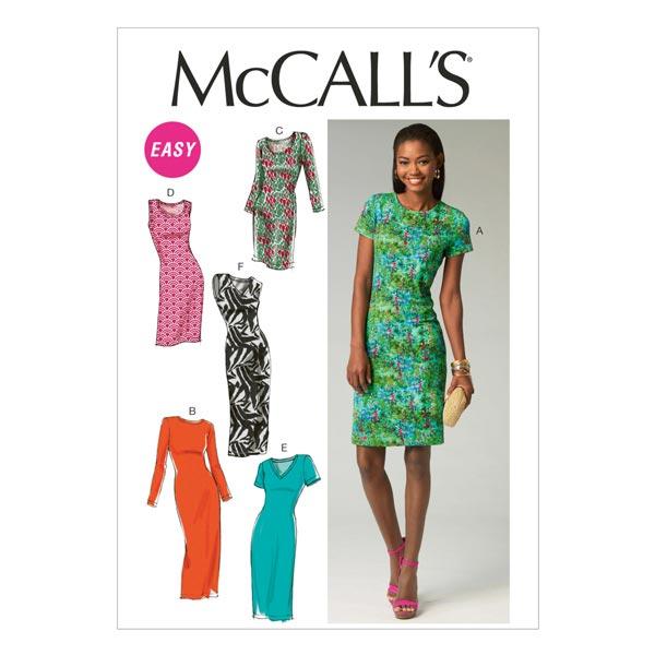 Vestido, McCalls 6886 | 32 - 40 - Patrón de corte Vestido- telas.es