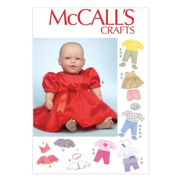 Schnittmuster für Puppenkleider von McCall'S