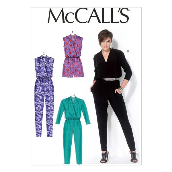 Monos, McCalls 7099 | 32 - 48 - Patrón de corte Falda y blusas- telas.es
