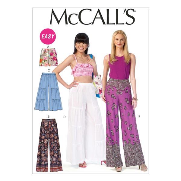 Pantalón corto|pantalón, McCalls 7164 | 32 - 50 - Patrón de corte ...