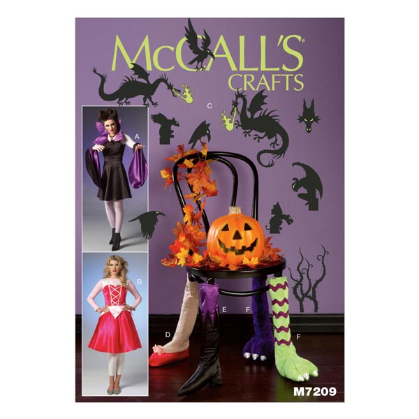 Halloween Kostüme, McCALL\'S 7209 - Schnittmuster Karneval- stoffe.de