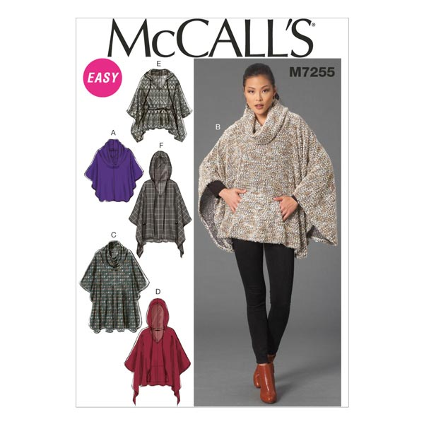 Poncho, McCalls 7255 | 32-40 - Schnittmuster Mantel & Jacken- stoffe.de