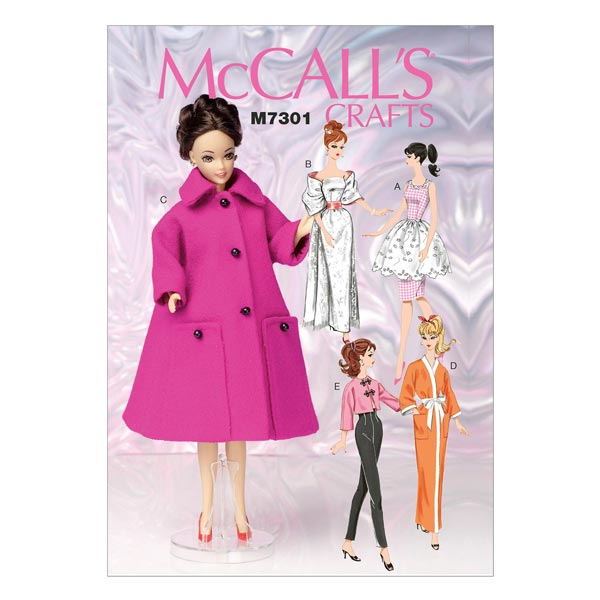 Puppenkleider, McCalls 7301   One Size