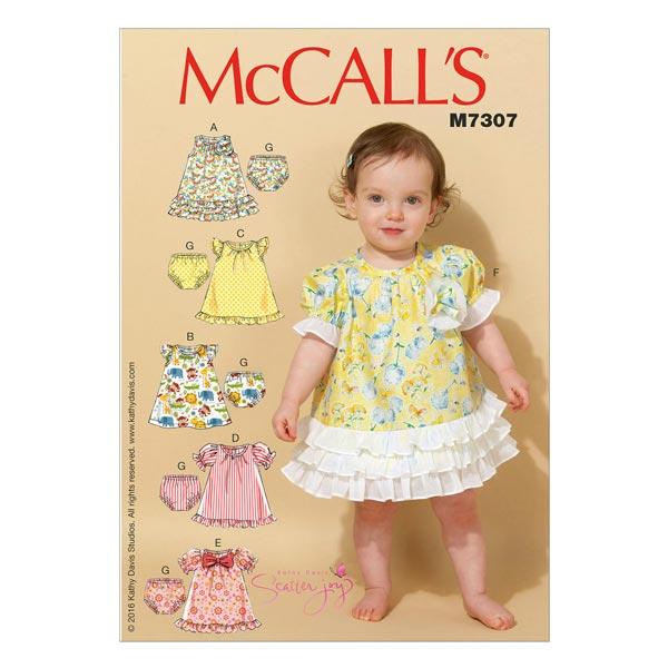 Babykleid/Höschen, McCalls 7307 | One Size - Schnittmuster Baby ...