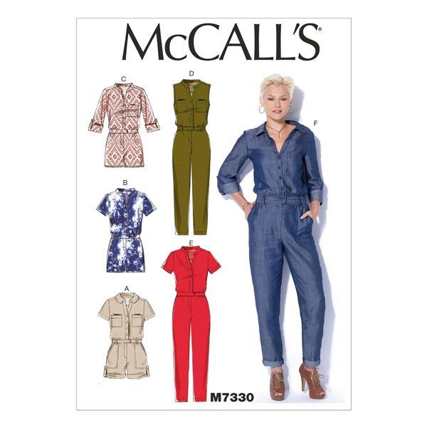 Overall, McCalls 7330   32-40 - Schnittmuster Hose- stoffe.de
