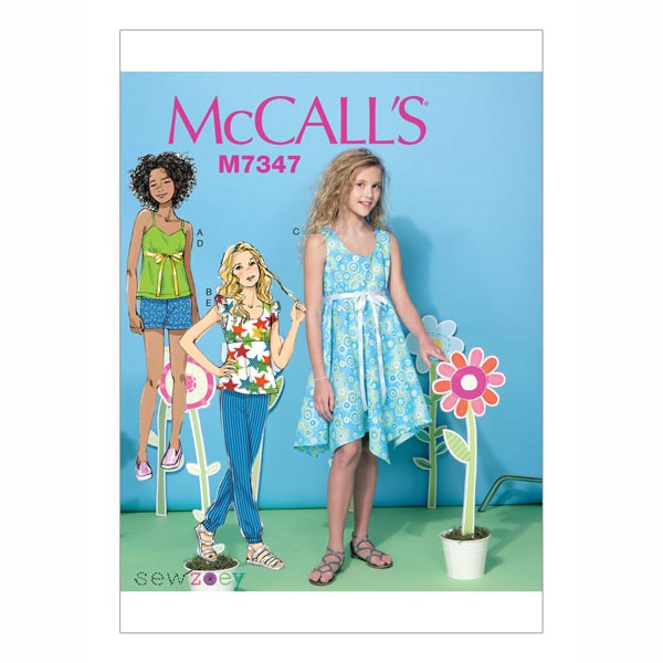 Plus Top/Kleid/Shorts, McCalls | 140-158 - Schnittmuster Kind- stoffe.de