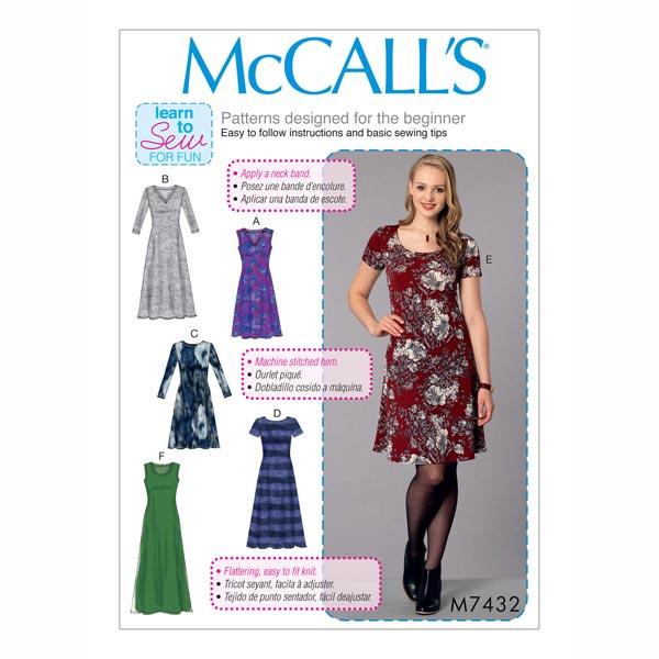 Vestido, McCalls 7432 | 42 - 50 - Patrón de corte Vestido- telas.es