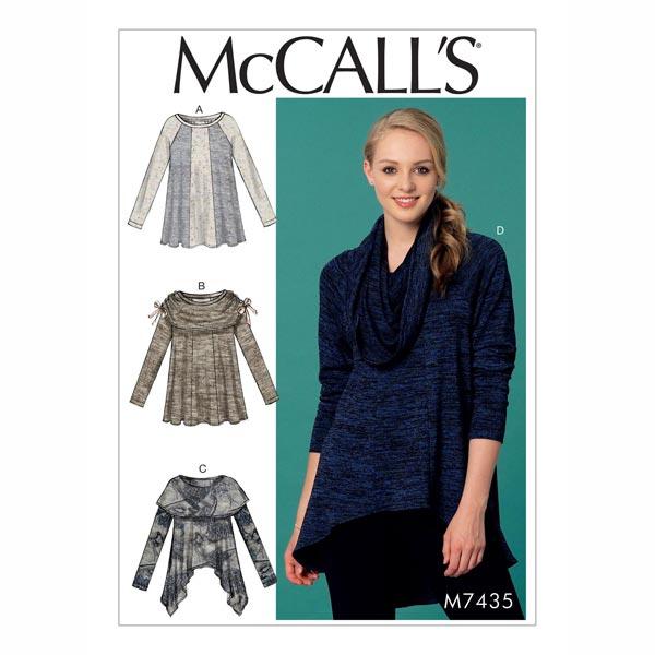 Top, McCalls 7435 | 42 - 50 - Patrón de corte Falda y blusas- telas.es