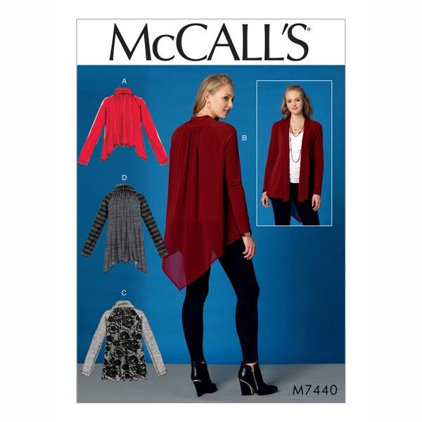 Chaqueta|Chaleco, McCalls 7440 | 42 - 50 - Patrón de corte Abrigos y ...