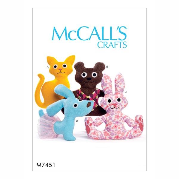 Schnittmuster für Teddys von McCall'S