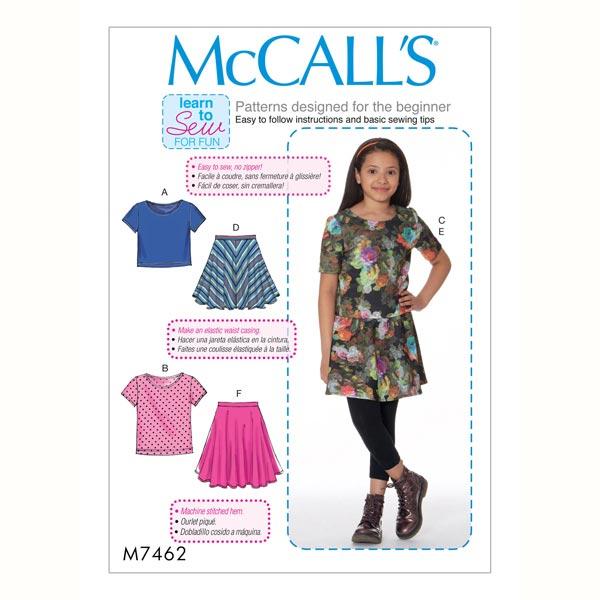 Chica - Top|Falda, McCalls 7462 | 140 - 158 - patrón de corte niño ...