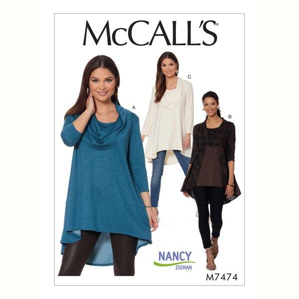 Top, McCalls 7474 | 42 - 50 - Patrón de corte Falda y blusas- telas.es