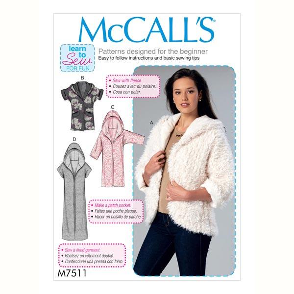 Chaqueta, McCalls 7511 | 42 - 52 - Patrón de corte Abrigos y ...