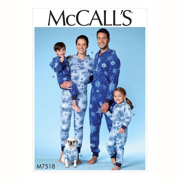 Schlafanzug - Jumpsuit, McCalls 7518 | 34 - 44