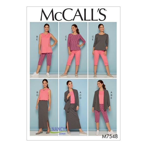 Chaqueta|Top|Pantalón|Falda, McCalls 7548 | 44 - - Patrón de corte ...