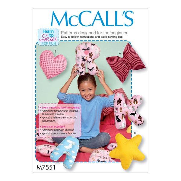 Schnittvorlagen für Kissen von McCall'S