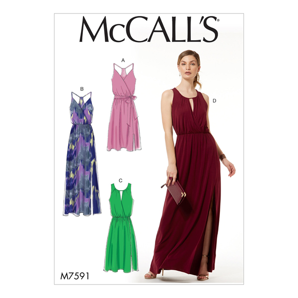 Abendkleid, McCalls 7591   32 - 40 - Schnittmuster Kleid- stoffe.de