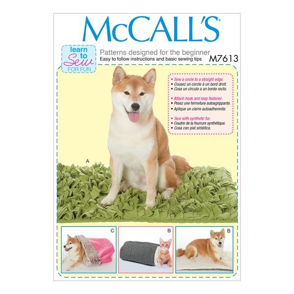 Hundebett, McCalls 7613   One Size - Schnittmuster Tierbekleidung ...