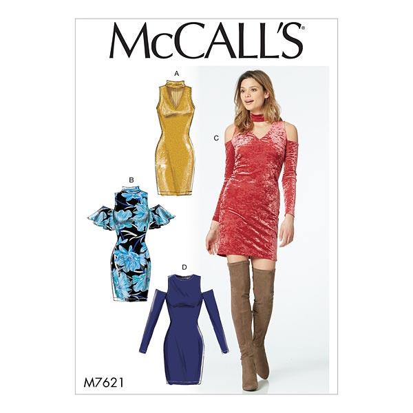 Vestido de punto, McCalls 7621 | 32 - 48 - Patrón de corte Vestido ...