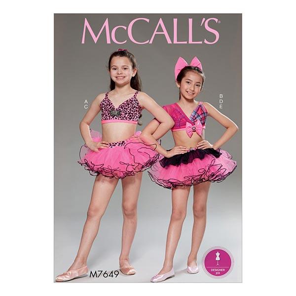 Mädchen Top   Rock, McCalls 7649   128 - 152 - Schnittmuster ...