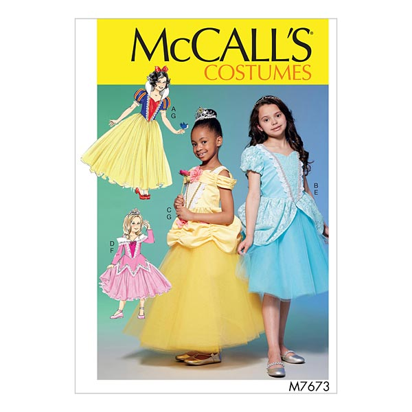 Prinzessin Kostüm, McCalls 7673 | 104 - 122 - Schnittmuster ...