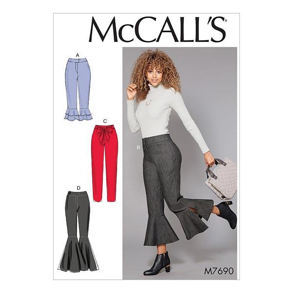 pantalone   pantaloni a zampa di elefante, McCalls 7690   32 - 40