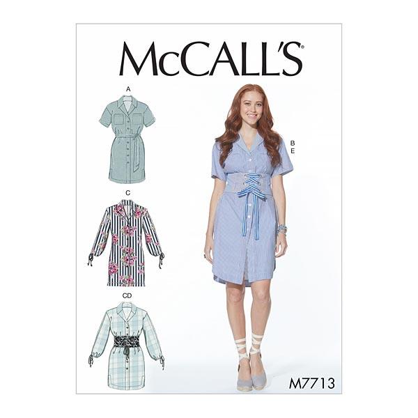 Plus Size Kleid | Gürtel, McCalls 7713 | 42 - 50 - Schnittmuster ...