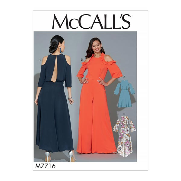 Vestido | Chandal, McCalls 7716 | 32 - 40 - Patrón de corte Vestido ...