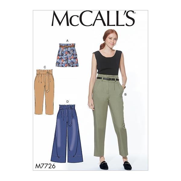 Pantalón corto | pantalón con cinturón, McCalls 7726 - Patrón de ...