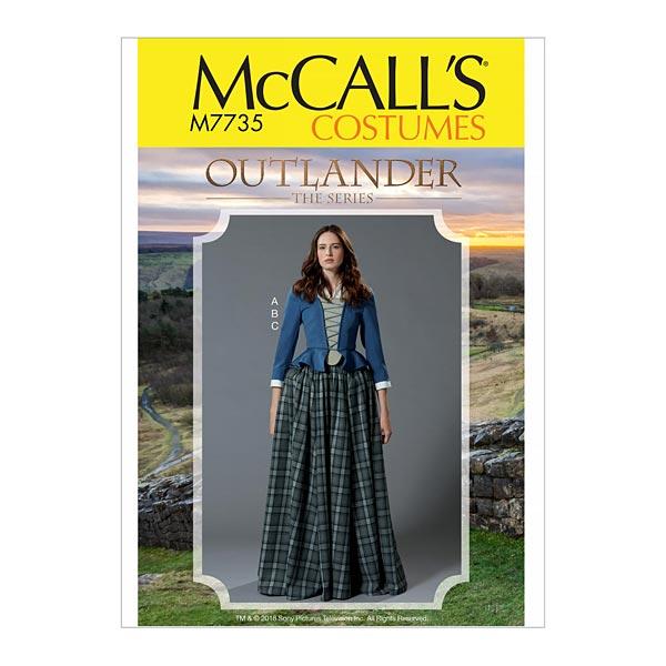 Disfraz Falda | Top , Outlander The Series 7735 | 32 - 40 - Patrones ...