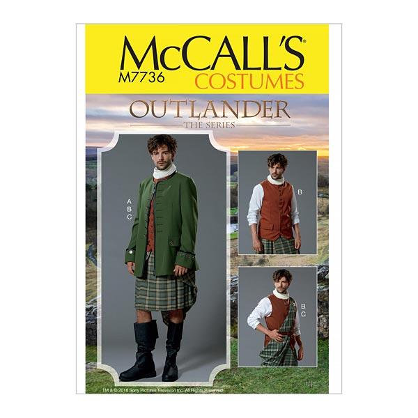 Herren Kostüm Kilt   Jacke   Weste, Outlander The Series 7736   56 ...